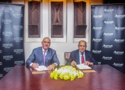 Mr Baloo Patel  and Mr Alex Kyriakidis at the signing ceremony of Sankara Nairobi Autograph Collecti